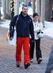 Chris O'Donnell braves the snow for some skiing in Aspen